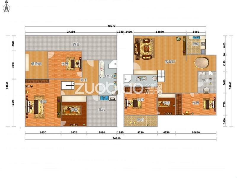 楼中楼 精装修 使用面积260平方
