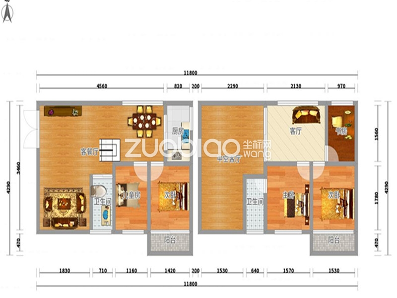 60平方的楼中楼设计图