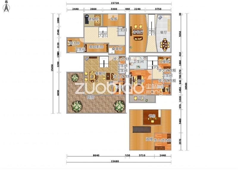 【坐标网】绿城玫瑰园别墅群诚心出售地下室360平