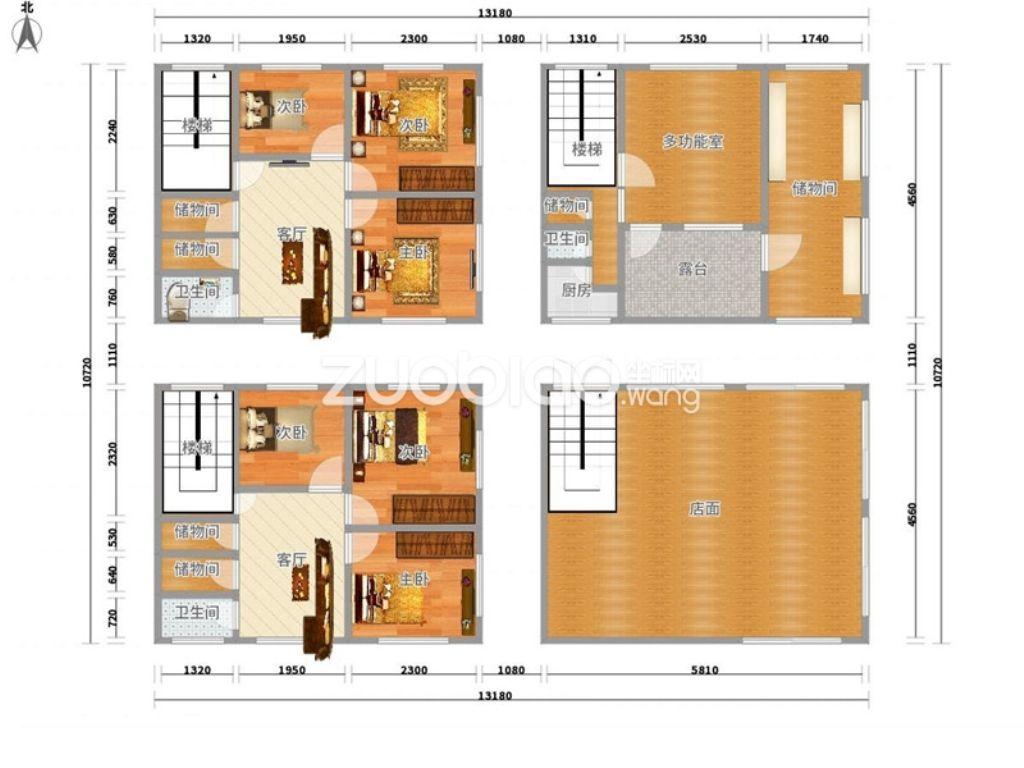 二间店铺房子设计图