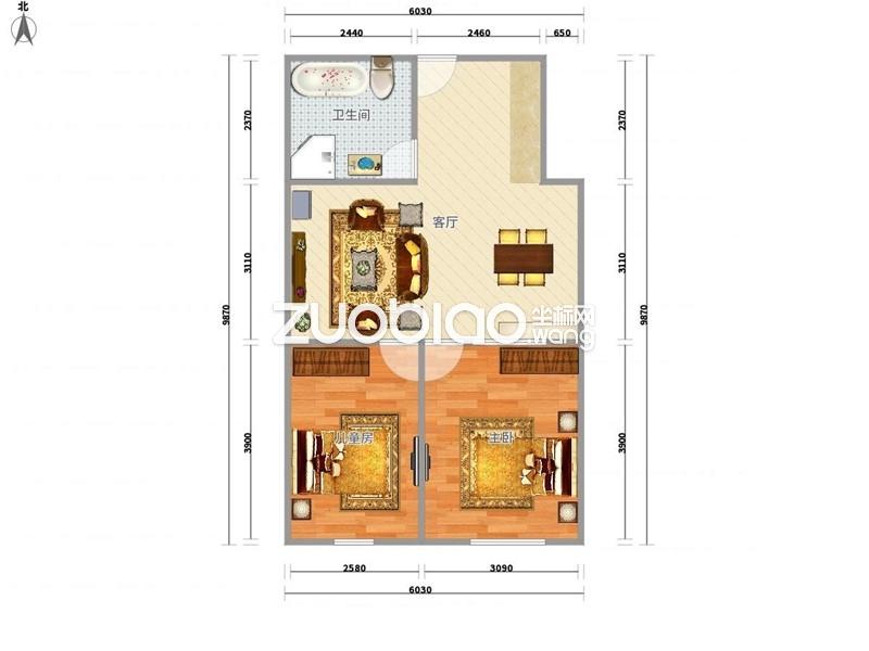 万达广场性价比超高两室一厅