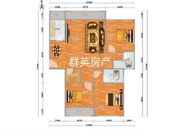 万商华府高楼层经典147户型超低价122万