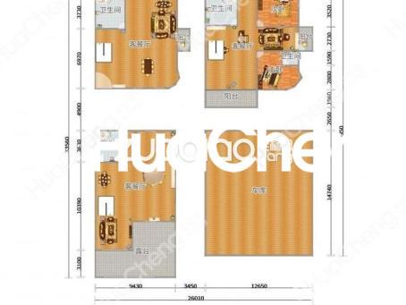 东阳紫荆庄园三期双拼排屋599平位置靠大通道花园400平