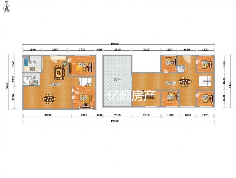 海德国际顶楼楼中楼确权207平使用305平带超大露台带装修