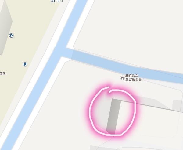 银河湾东大门店面出租(现为洗车场)