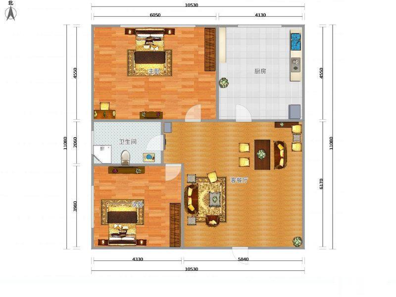 北苑雪峰公园边城市花园小面积 学 区+自住 首 选 2房 层