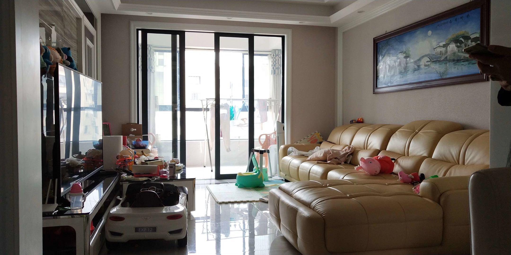 俯瞰义乌江万达广场近在咫尺万达华府高层3居室南北通透全新装修