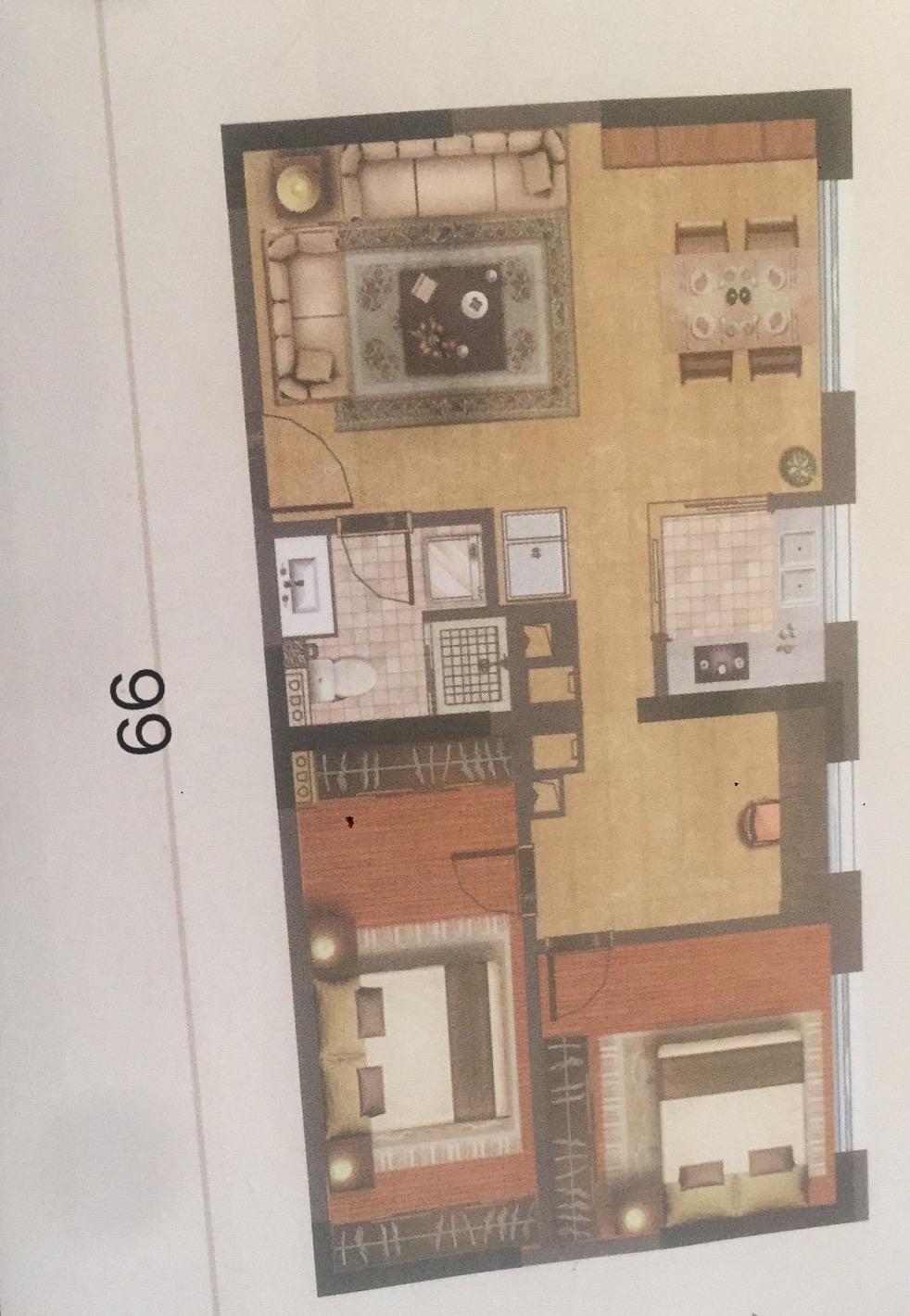 政府重点扶持项目 轻轨旁三室两厅一卫 70W