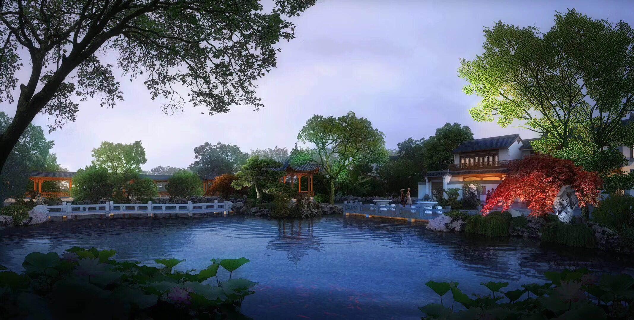诸暨 枫林半岛中式庭院排屋