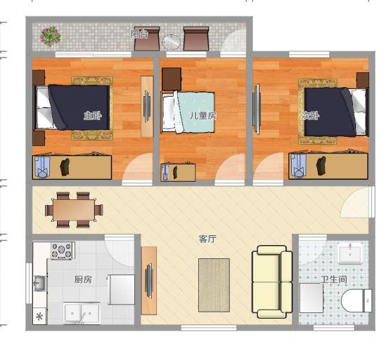 江南一区 江东 自住 实验学区房 标准三房 带阳台