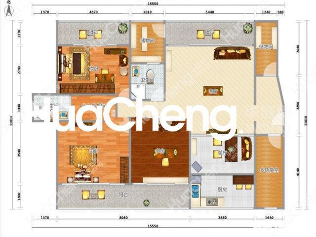 梅湖国际公馆160平使用3阳台证件齐全带车位诚心出售