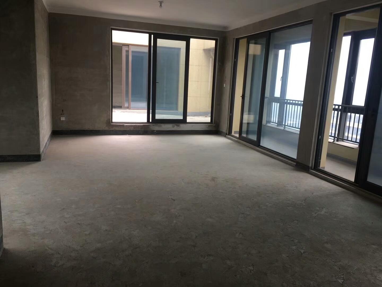 稠江绿城玫瑰园143平 高楼层景观房 带双车位 毛坯房位置好