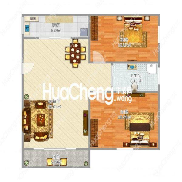 急卖。紫荆庄园标准2室,70年。商贸城周边、小区的入住高