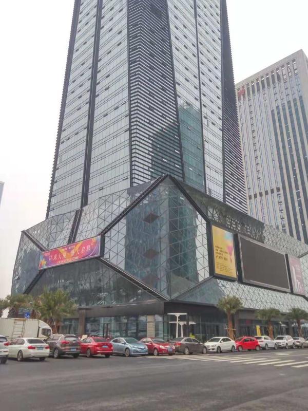 出租义乌CBD环球中心顶层写字楼100-800平可分割,拎包